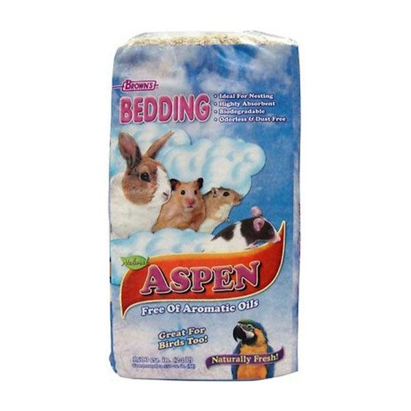 Brown's Aspen Small Animal & Bird Bedding - New York Bird Supply