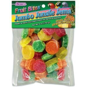Browns Fruit Bites Jumbo Jungle Jems - New York Bird Supply