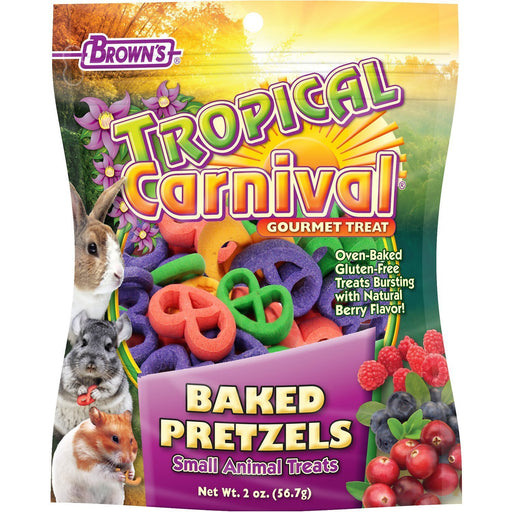 Brown's Tropical Carnival Baked Pretzel Small Animal Treats - New York Bird Supply