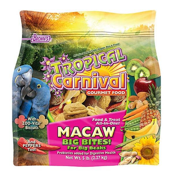 Browns Tropical Carnival Gourmet Macaw Big Bites - New York Bird Supply