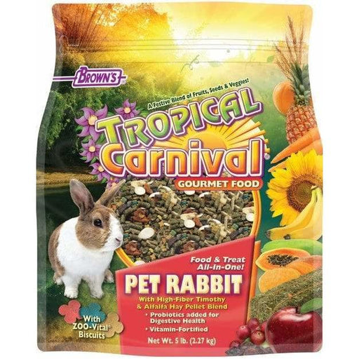 Browns Tropical Carnival Gourmet Pet Rabbit Food - New York Bird Supply