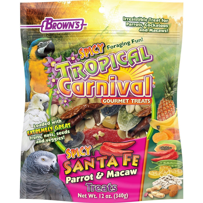 Brown's Tropical Carnival Spicy Santa Fe Parrot & Macaw Bird Treats - New York Bird Supply