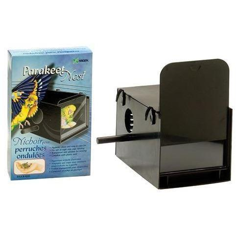 Hagen Parakeet Nest Box Black - New York Bird Supply