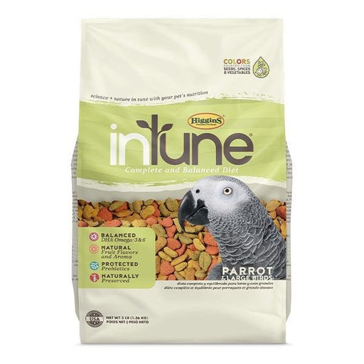 Higgins InTune Natural Parrot Food - New York Bird Supply