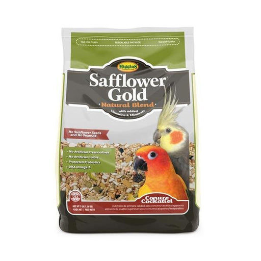 Higgins Safflower Gold Conure/Cockatiel, 3lb - New York Bird Supply