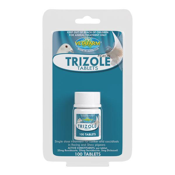 Vetafarm Pigeon Trizole 100 Tablets - New York Bird Supply