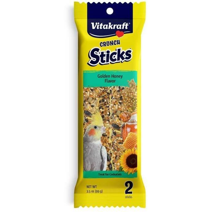 Vitakraft Cockatiel Golden Honey Sticks 3.5 oz (2 Sticks) - New York Bird Supply