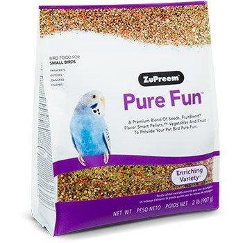 Zupreem Pure Fun Small Bird (Parakeet) - New York Bird Supply