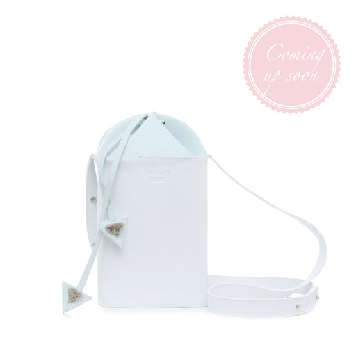 WHITE FLAKE bucket bag