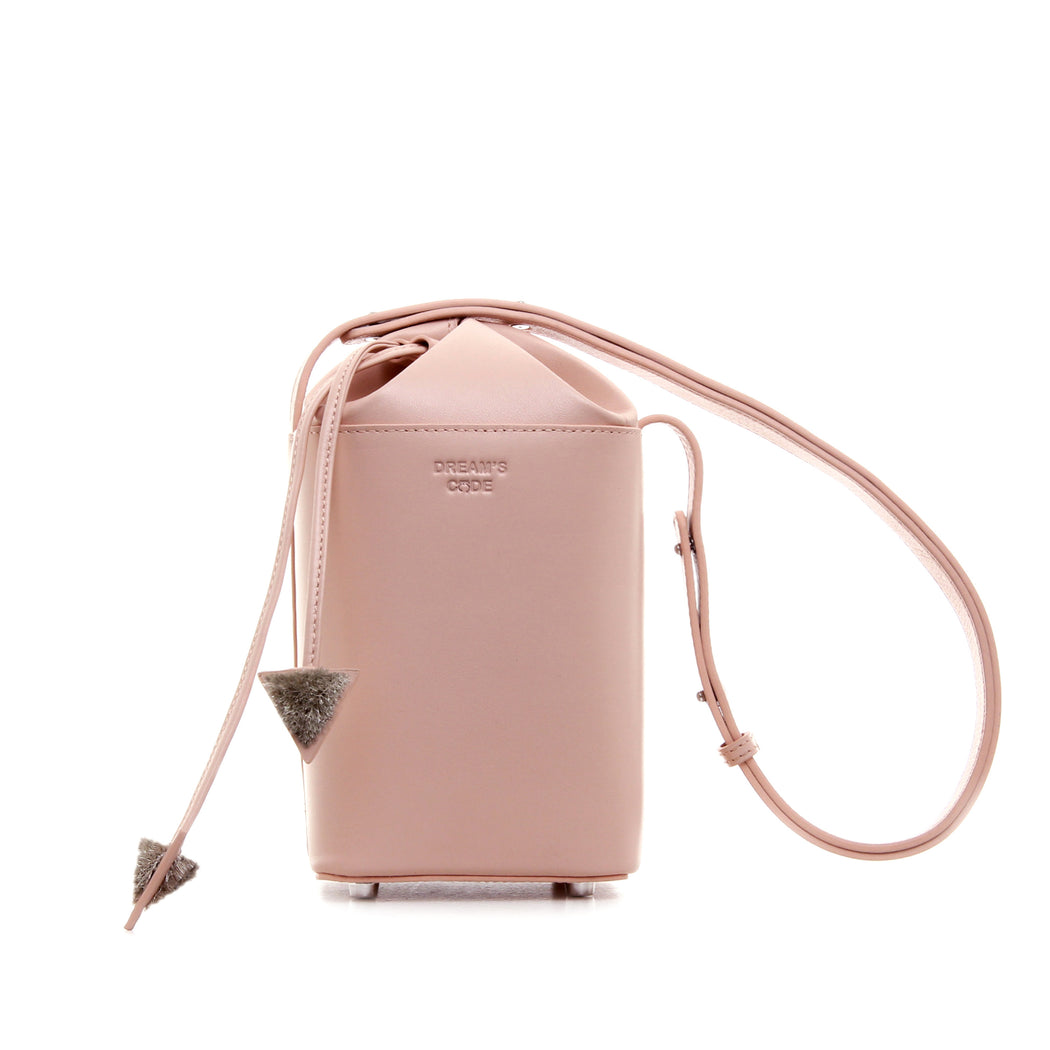 PASTEL PINK FLAKE bucket bag