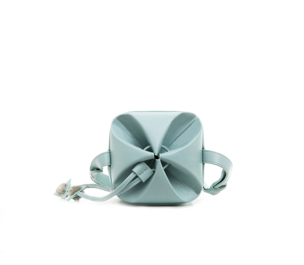 PASTEL BLUE FLAKE bucket bag
