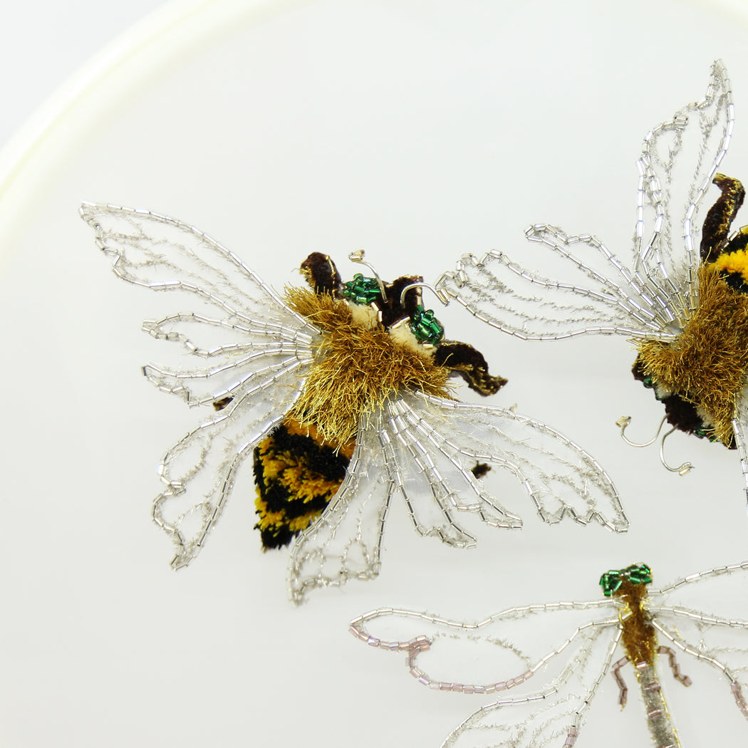 All Hand Embroidery Bee On Fabric