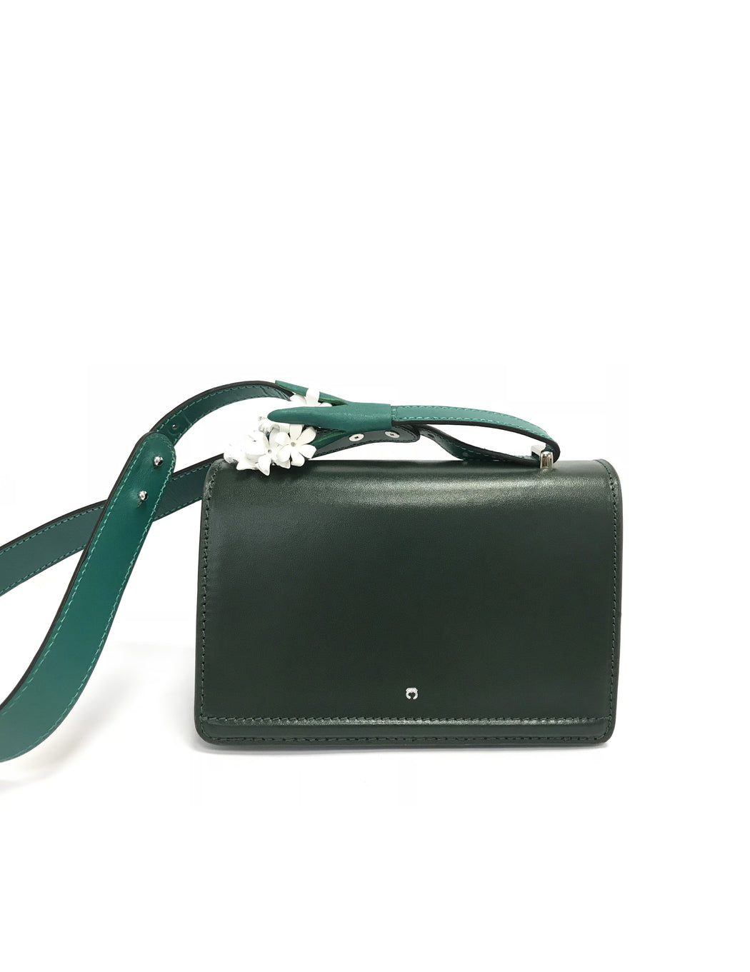 DARK GREEN HYACINTH clutch