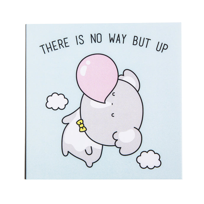 There Is No Way But Up Postcard - Luna Koala