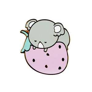Strawberry Enamel Pin - Luna Koala