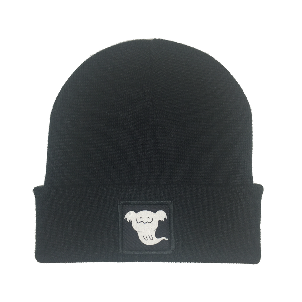 Ghost of Luna Black Cuffed Beanie - Luna Koala