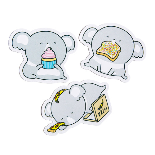 3 Sticker Food Pack - Luna Koala