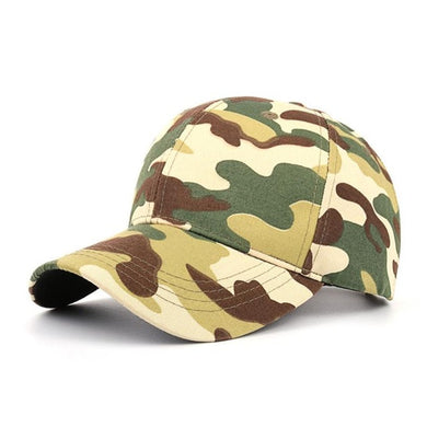 Outdoor Sporting Tactical Camouflage Cap Black Green  Adjustable Baseball Cap Hat bone