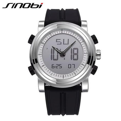 SINOBI Sports Watch Men's Wrist Watches Digital Quartz Clock 2 Movement Waterproof Watch Top Luxury Brand Chronograph Male Reloj - The Deal Finder