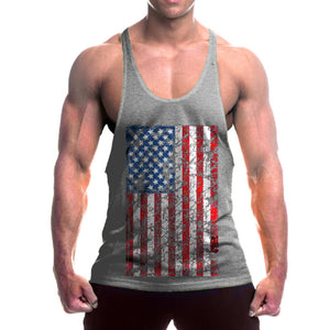 Mens V-Neck Loose Fitting Tank Top