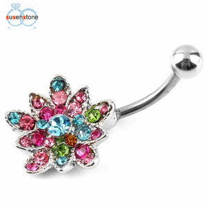 SUSENSTONE Rhinestone Belly Ring - The Deal Finder
