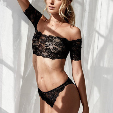 Hot Lace Bra & Brief Set for Women
