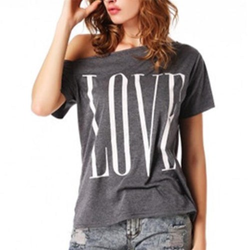 Retro Sexy Off Shoulder Short Sleeve Casual T-Shirt for Women - The Deal Finder