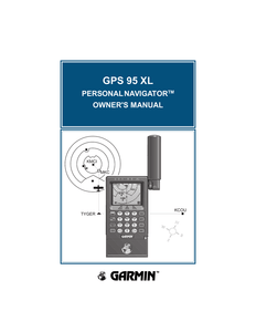 GPS 95XL quick reference guide