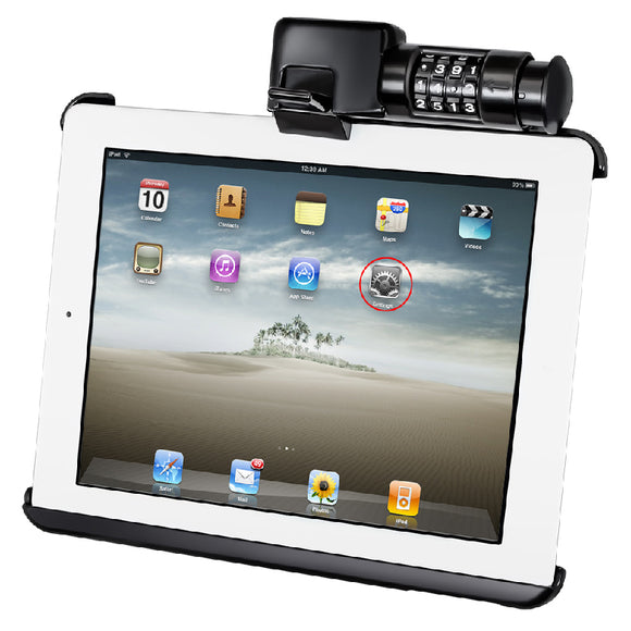 RAM LOCKING HOLDER FOR APPLE IPAD