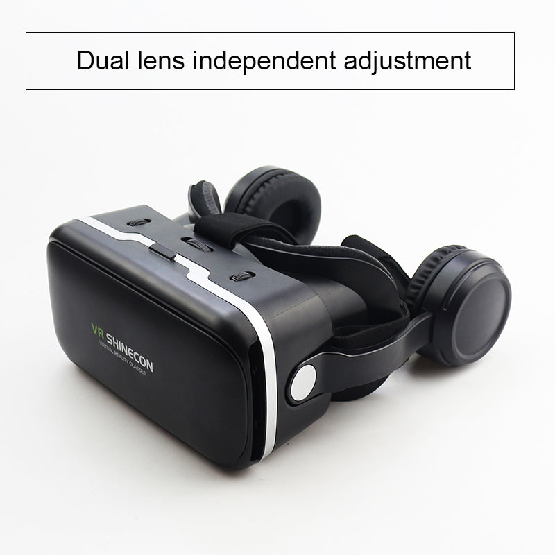 843456f808d VR Shinecon 6.0 Pro Stereo VR Headset Virtual Reality Helmet Smartphone 3D Glasses  Mobile Google BOX