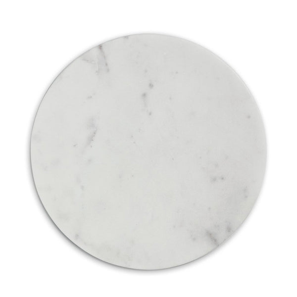 CHOPPING BOARD, ROUND, WHITE MARBLE