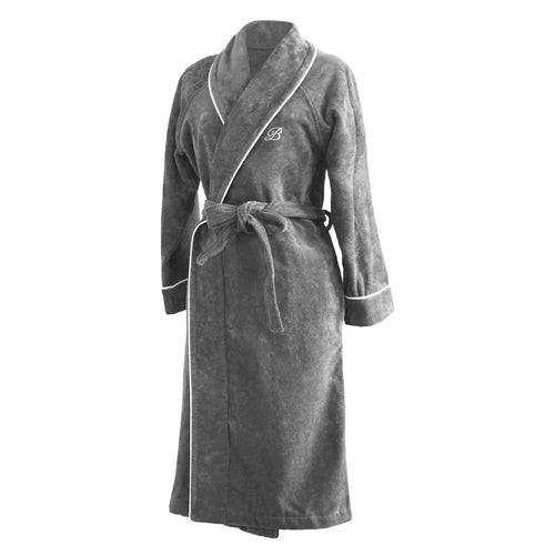 PORTOFINO ROBE, 100% Cotton Grey