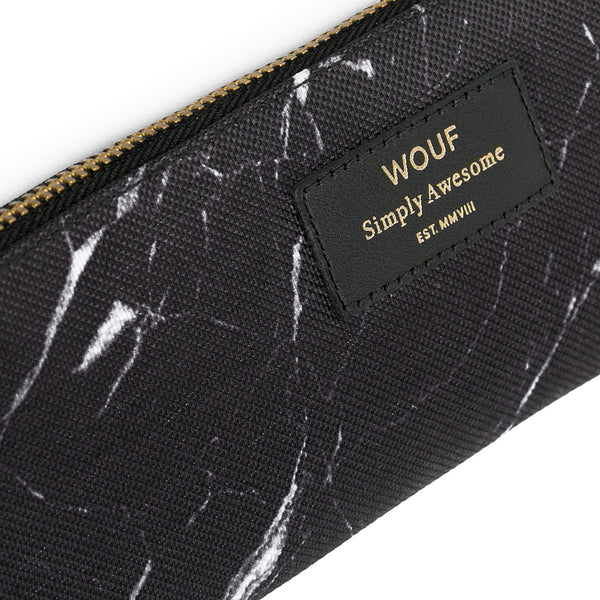 PENCIL CASE, BLACK MARBLE