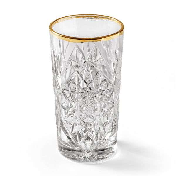 LIBBEY HOBSTAR COOLER GOLD RIM – GLAS, 470 ml, 2 PCS.