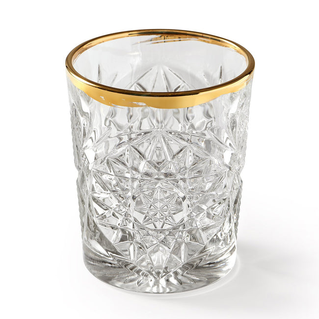 LIBBEY HOBSTAR GOLD RIM – GLASS, 350 ml, 2 PCS.