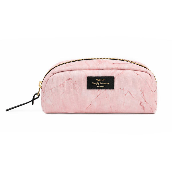 MAKEUP BAG, PALE PINK MARBLE