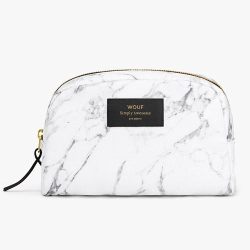 TOILETRY BAG, WHITE MARBLE