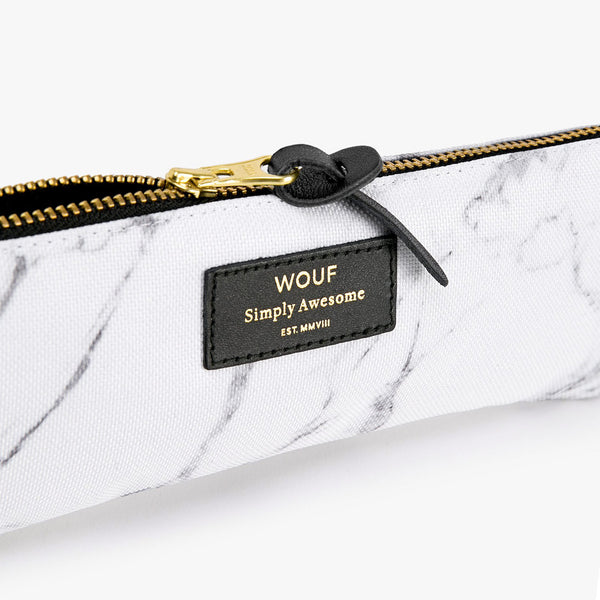 PENCIL CASE, WHITE MARBLE