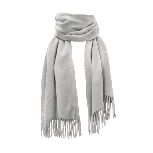 Vallées scarf, 70x200cm, light grey melange, 100 % wool