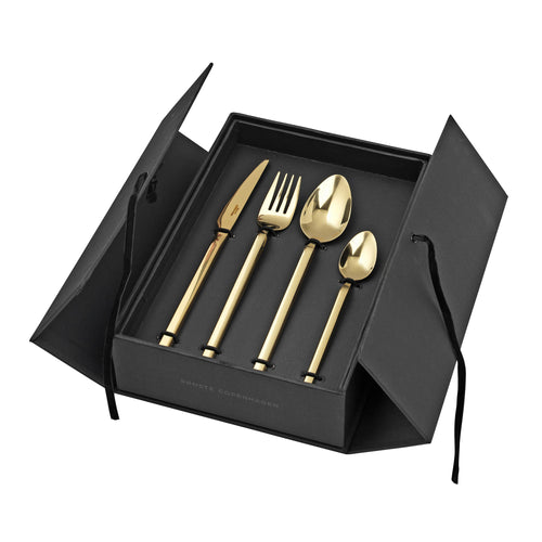 TVIS CUTLERY SET, GOLD, 16 PCS.