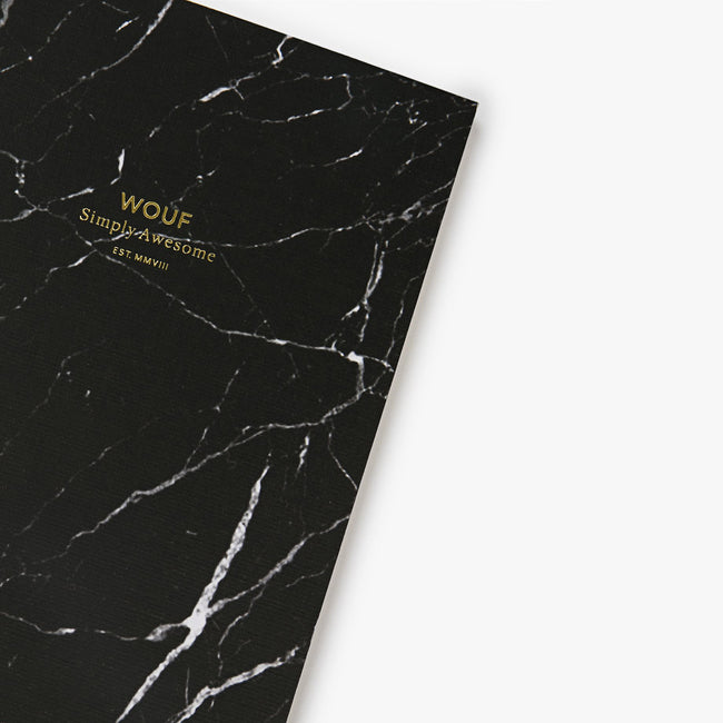 A5 NOTEBOOK, BLACK MARBLE