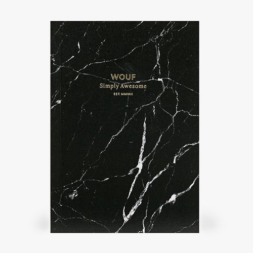 A6 NOTEBOOK, BLACK MARBLE