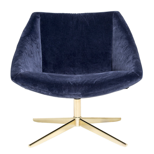 ELEGANT ARMCHAIR WITH BLUE VELVET
