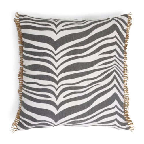 ZEBRA TITANIUM DECORATIVE PILLOW 50 x 50