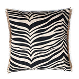 ZEBRA BLACK DECORATIVE PILLOW 50 x 50