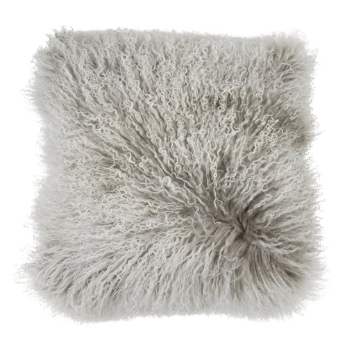 FUYU DECORATIVE SHEEPSKIN PILLOW 40 x 40 cm, GRAY