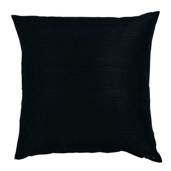 DUPION DECORATIVE PILLOW 50 x 50 cm  BLACK