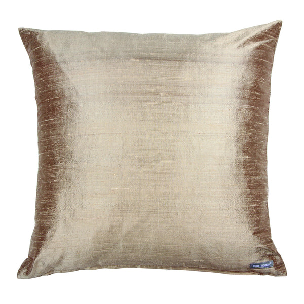 DUPION DECORATIVE PILLOW 50 x 50 cm, CHAMPAGNE COLOR