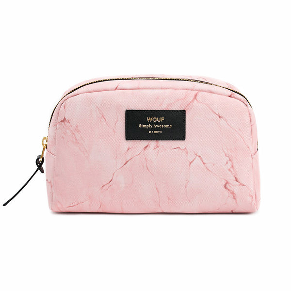 TOILETRY BAG, PALE PINK MARBLE
