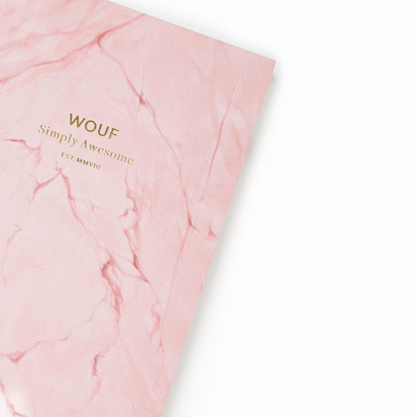 A6 NOTEBOOK, PINK MARBLE